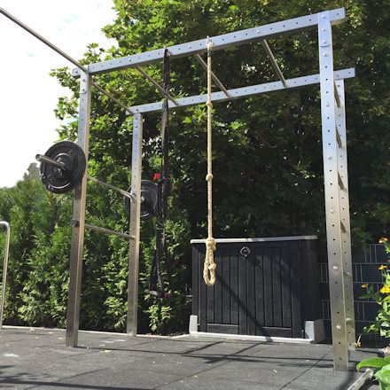 Crossfit-Station for outdoor use in the garden - do it yourself