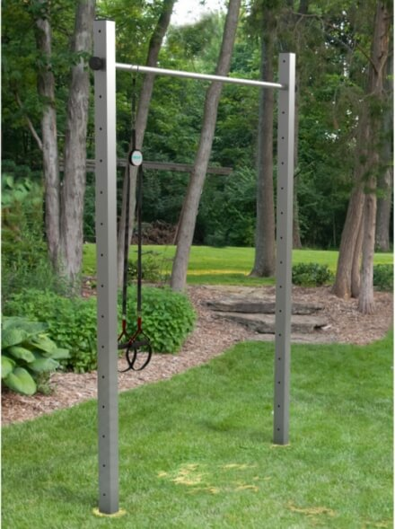 Stainless steel horizontal bar for DIY installation in your garden